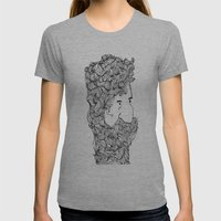 Bearded Man Womens Fitted Tee Athletic Grey SMALL