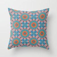 Kalei Coral Throw Pillow