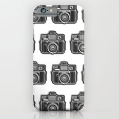 I Still Shoot Film Holga Logo - Black and White iPhone 6s Slim Case