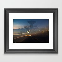 Antenna Flowing Framed Art Print