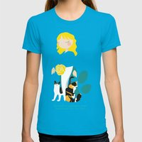 Endo Paw Pals Womens Fitted Tee Teal SMALL