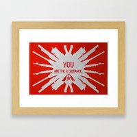 Resistance 3 - You Are T… Framed Art Print