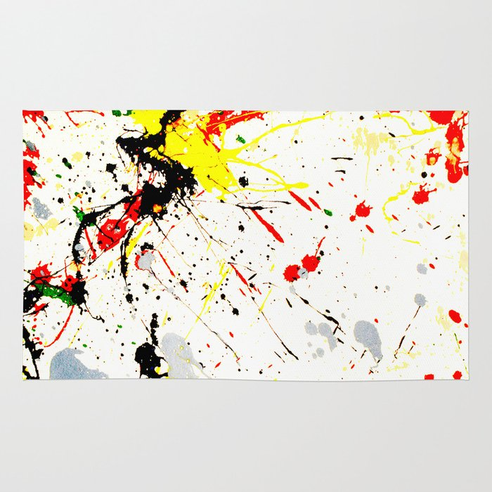 Paint Splatter Rug By Gravityx9 Society6