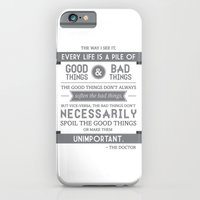 iPhone & iPod Case featuring Good Things & Bad Things (gray) by Victoria Spahn