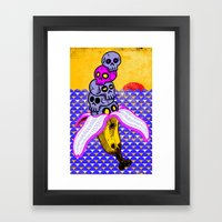Death By Banana Framed Art Print