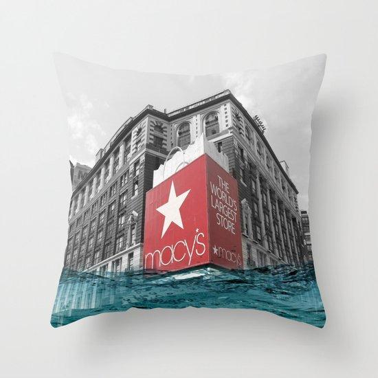 Macy's water line Throw Pillow