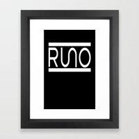 Rue Nothing RUNO Logo Wh… Framed Art Print