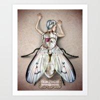 White Fly Art Print