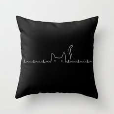 There is a cat in my heart Throw Pillow