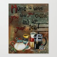 Home Is Where You Brew Y… Canvas Print
