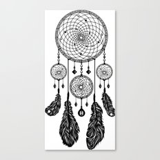 Dreamcatcher (Black & White) Canvas Print