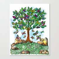 Flutterby Tree Canvas Print