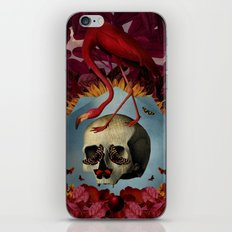 Flaming feather iPhone & iPod Skin