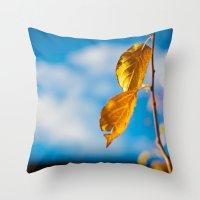 Catchy Autumn Throw Pillow