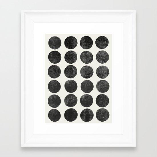 Colorplay Black Framed Art Print