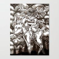 we rode on through the night Canvas Print