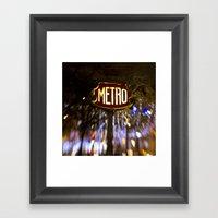 Metro Love Framed Art Print