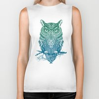 Warrior Owl Biker Tank