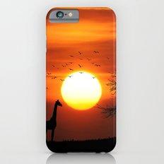 Giraffe sundown iPhone 6 Slim Case