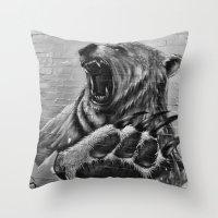 Bear Art Throw Pillow