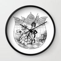 Floral Society Greeting Wall Clock