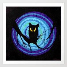 time for child stories: the EVIL OWL Art Print