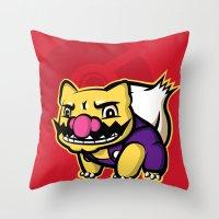 Wariosaur Throw Pillow