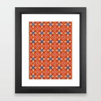 Moroccan Motet Pattern Framed Art Print