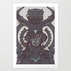 Electric Queen :: Line Art Art Print