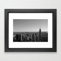New York City Skyline 2 Framed Art Print
