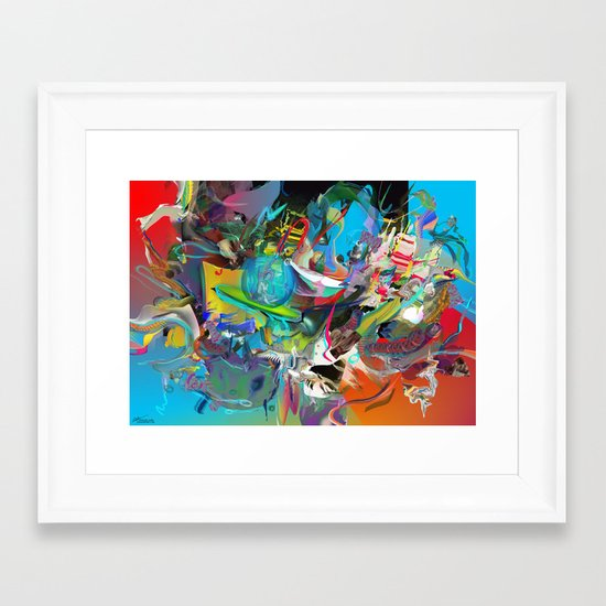Microcrystalline Tendrils Framed Art Print