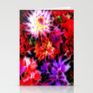 Glowing Flowers Stationery Cards