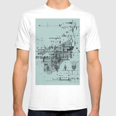 USELESS POSTER 6 Mens Fitted Tee SMALL White
