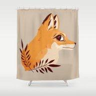 Fox Familiar Shower Curtain