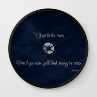 Shoot for the Moon Wall Clock
