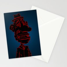 Distraught and Out in Red Stationery Cards