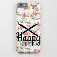 funny crochet vintage floral happy hooker iPhone 6 Slim Case
