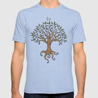 Shirley's Tree Mens Fitted Tee Tri-Blue SMALL