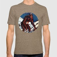 Bigfoot is Real Mens Fitted Tee Tri-Coffee SMALL