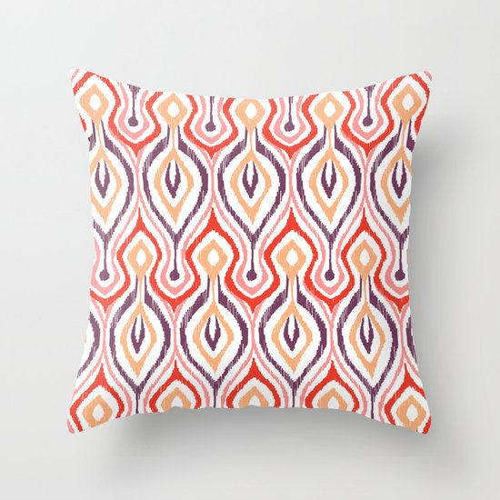 Sketchy Ikat - Nebula Throw Pillow