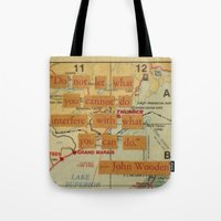John Wooden Quote Tote Bag