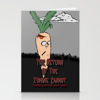 The zombie carrot Stationery Cards
