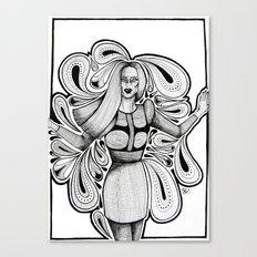 Wooden Swirls Canvas Print