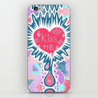 iPhone & iPod Skin featuring Kiss Me by Aurelie