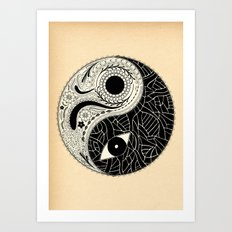 - yin & yang - [collaborative art with famenxt] Art Print