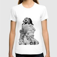 Collapse Womens Fitted Tee White SMALL