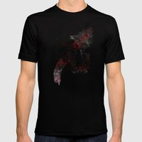 Flying Rose Mens Fitted Tee Black SMALL