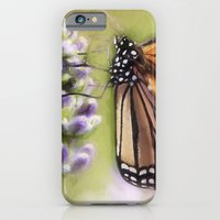 iPhone Cases featuring A Monarch and her Lavender by ThePhotoGuyDarren