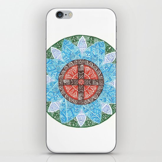 stained flower iPhone & iPod Skin