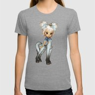 Cute Adorable Elf Pony B… Womens Fitted Tee Tri-Grey SMALL